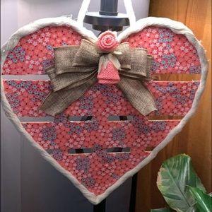 Handmade Heart Wall Hanging